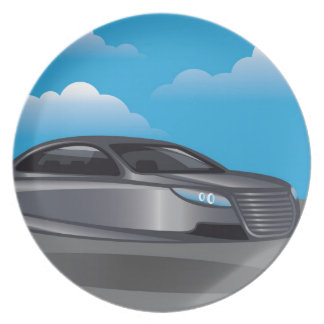 Hover Car vector Party Plates