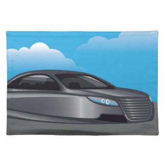 Hover Car vector Place Mat