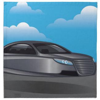 Hover Car vector Printed Napkin