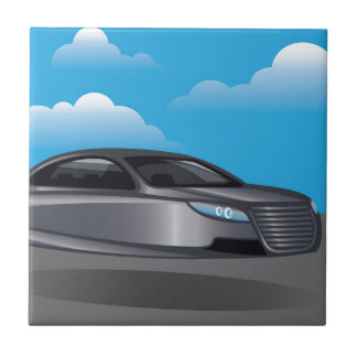 Hover Car vector Small Square Tile