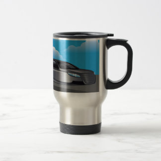 Hover Car vector Stainless Steel Travel Mug