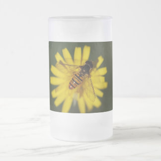 Hover Fly Photo Frosted Glass Mug