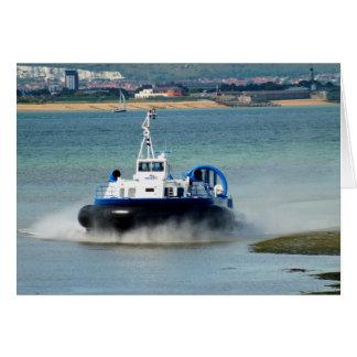 Hovercraft arriving at Ryde Cards