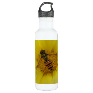 Hoverfly on a Marigold 710 Ml Water Bottle