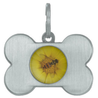 Hoverfly on a Marigold Pet Tag