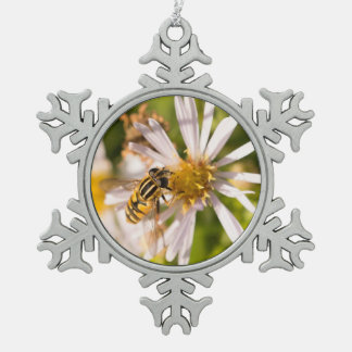 Hoverfly Pewter Snowflake Decoration
