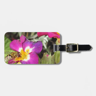 hoverfly resting luggage tag