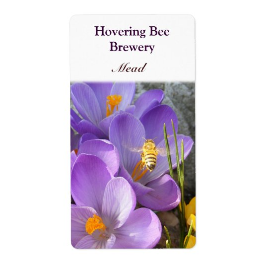 Hovering Bee ~ Mead Wine Label Shipping Label