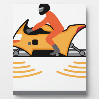Hovering Motorcycle Display Plaques
