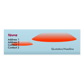 Hovering Saucers Pack Of Skinny Business Cards