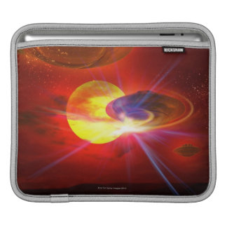 Hovering UFOs iPad Sleeve