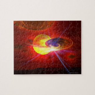 Hovering UFOs Jigsaw Puzzle