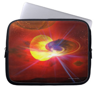 Hovering UFOs Laptop Sleeve