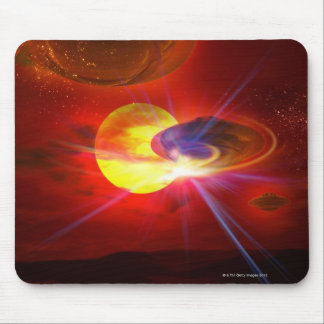 Hovering UFOs Mouse Mat