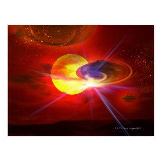 Hovering UFOs Postcard