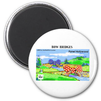 How 2 Wrap A Bridge As A Gift Funny Gifts & Tees 6 Cm Round Magnet