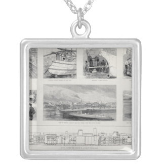 How a Torpedo Boat is Built Silver Plated Necklace