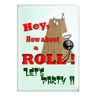 How About a Roll ? 13 Cm X 18 Cm Invitation Card
