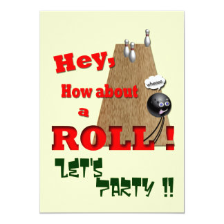 How About a Roll ? 5x7 Paper Invitation Card