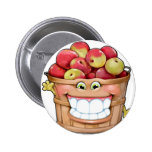 How about them apples?!  Happy Apples! 6 Cm Round Badge