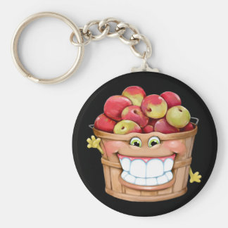 How about them apples Happy Apples Keychain