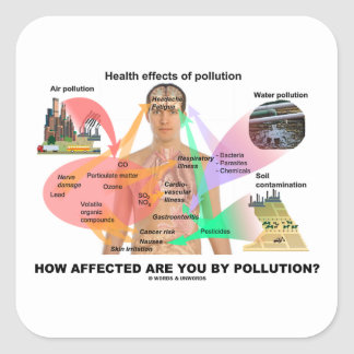 How Affected Are You By Pollution? (Physiology) Square Sticker
