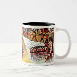 How Alexander the Great  crossed the Tigris Two-Tone Coffee Mug