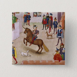 How Alexander the Great  Mounted Bucephalus 15 Cm Square Badge