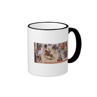How Alexander the Great  Mounted Bucephalus Ringer Mug