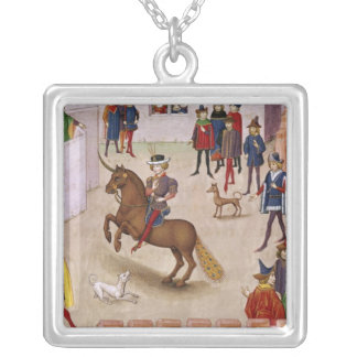 How Alexander the Great  Mounted Bucephalus Silver Plated Necklace
