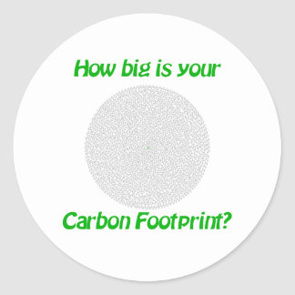 How big is your carbon footprint round stickers