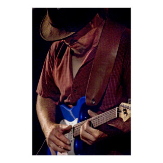 How Blue Can You Get  - Blues Guitar Player Poster