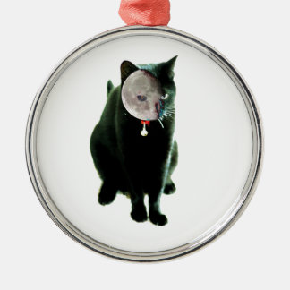How Cats Do Halloween Silver-Colored Round Decoration