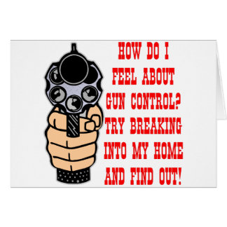 How Do I Feel About Gun Control Greeting Card