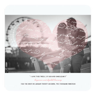 How Do I Love Thee Poem Wedding Photo Announcement