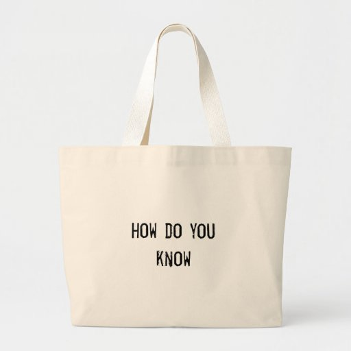 how do you know canvas bags