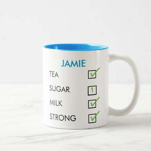 How do you like your tea custom name tick box mug