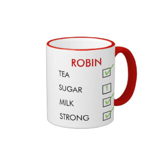 How do you like your tea customized check box mug