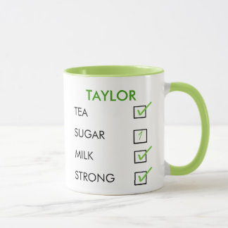 How do you like your tea personalized checkbox mug