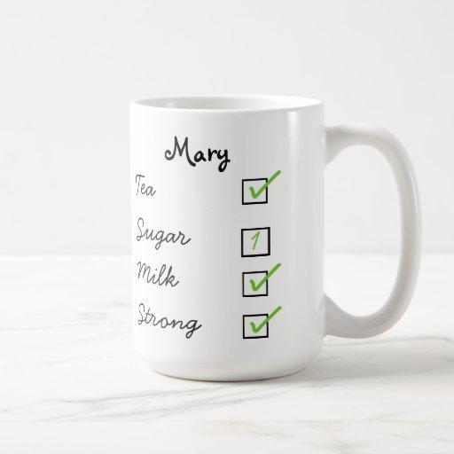 How do you like your tea personalized tick box mug