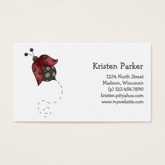 How Does Your Garden Grow · Ladybug Business Card