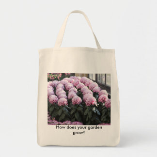 How does your garden grow? grocery tote bag