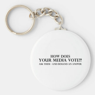 How Does Your Media Vote Basic Round Button Key Ring