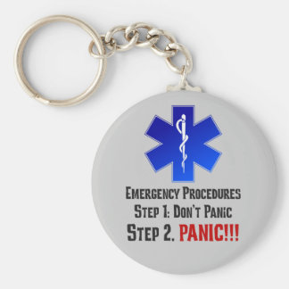 How EMTs Respond to Your Emergency Basic Round Button Key Ring