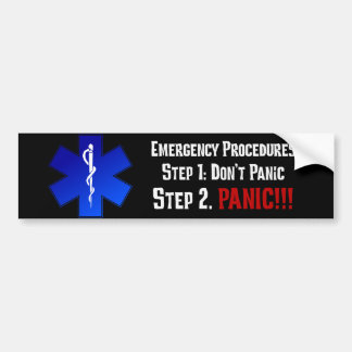 How EMTs Respond to Your Emergency Bumper Sticker