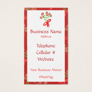 How Feminine And Pretty Floral Business Card