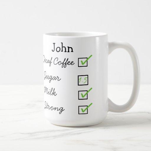 How I like my decaf coffee personalized mug
