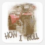 How I Roll - ATC Trike Three Wheeler Square Sticker