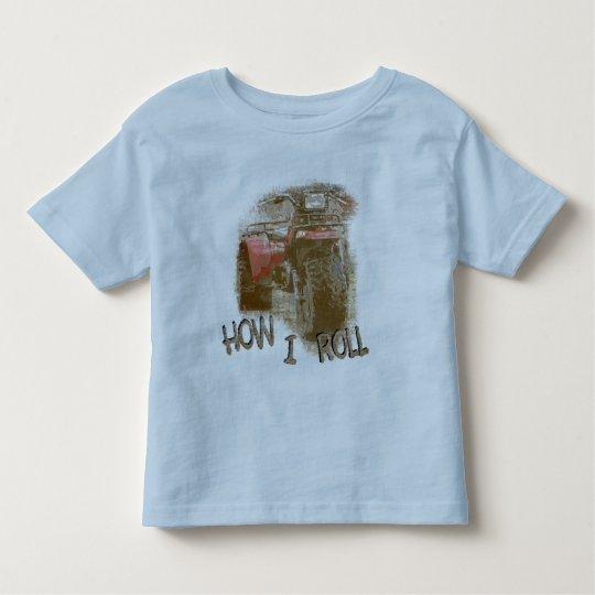 How I Roll - ATC Trike Three Wheeler Toddler T-Shirt