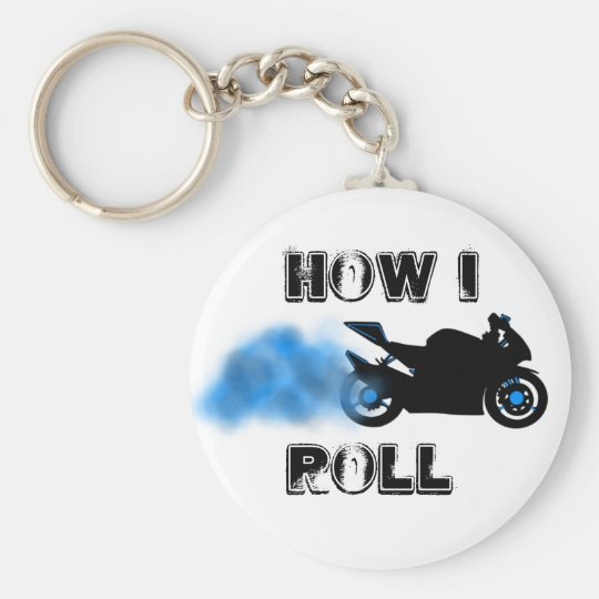 HOW I ROLL BASIC ROUND BUTTON KEY RING